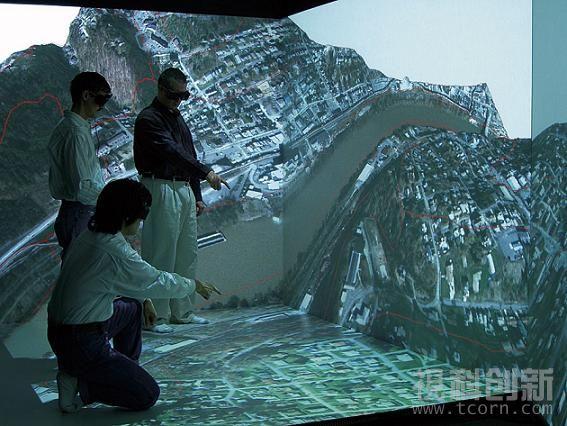 四通道主动式立体CAVE(洞穴)视景仿真系统