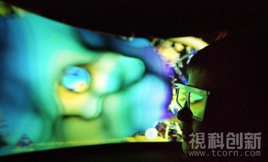视科创新90度双通道立体仿真视景系统